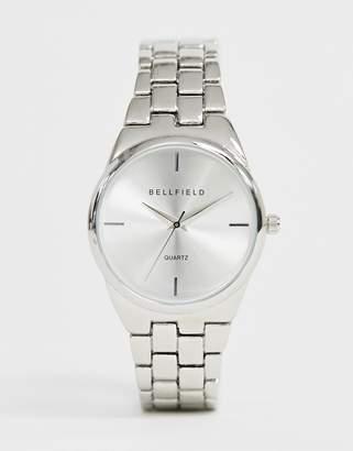 Bellfield ladies bracelet watch in silver