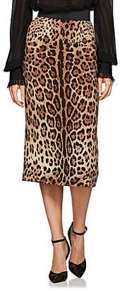 Dolce & Gabbana Women's Leopard-Print Pencil Skirt