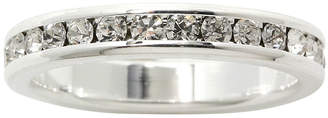 SPARKLE ALLURE city x city Crystal Pure Silver-Plated Eternity Band Ring