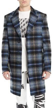 Calvin Klein Men's Plaid Wool Coat