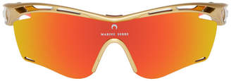 Marine Serre Gold and Orange Rudy Project Edition Tralyx Slim Moon Sunglasses
