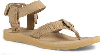 Teva Original Leather Fringe Flat Sandal - Women's