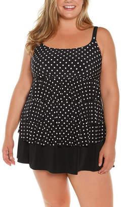 ST. JOHN'S BAY Dots Swim Dress Plus
