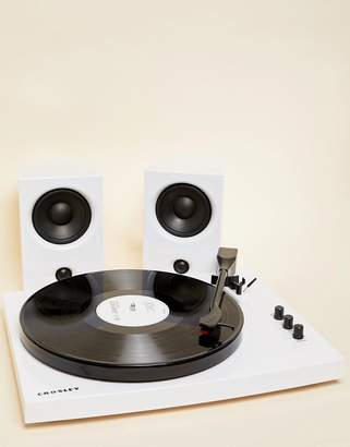 Crosley T100 Turntable Record Player - White