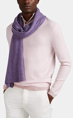 Barneys New York Men's Cashmere Scarf - Purple