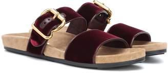 Prada Velvet slip-on sandals