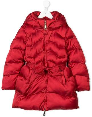 MonnaLisa belted padded coat