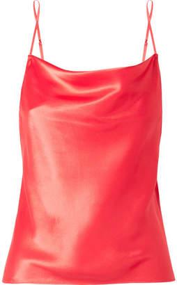 Fleur Du Mal Draped Silk-charmeuse Camisole - Red