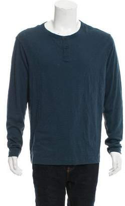 Theory Woven Henley T-Shirt w/ Tags