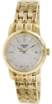 Tissot Women's T-Classic T033.210.33.111.00 Mother-Of-Pearl Stainless-Steel Swiss Quartz Watch