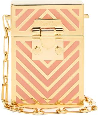 Mark Cross Nicole chevron-striped cross-body bag