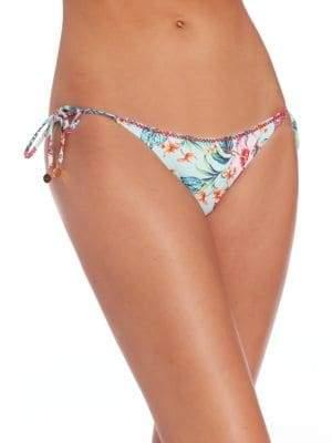 OndadeMar Embroidered String Bikini Botton