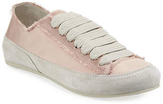 Pedro Garcia Parson Satin Low-Top Lace-Up Sneakers