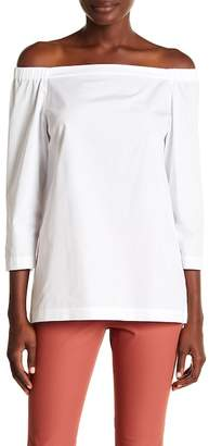 Theory Vinata Off-the-Shoulder Blouse