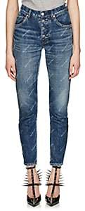 Balenciaga Women's Logo-Print Slim Jeans - Blue