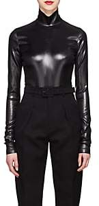 Givenchy Women's Coated Satin Bodysuit - Black
