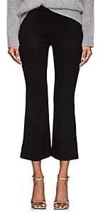 Cynthia Rowley WOMEN'S FAUX-SUEDE FLARE PANTS-BLACK SIZE 2