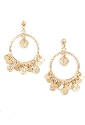 Women's Ettika Coin Hoop Earrings $50 thestylecure.com