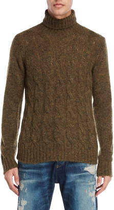 Armani Jeans Cable Knit Turtleneck Sweater