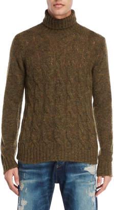 Armani Jeans Cable Knit Turtleneck Sweater