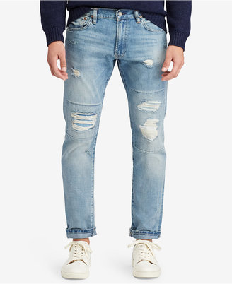 Polo Ralph Lauren Men's Varick Slim-Straight Ripped Jeans $98.50 thestylecure.com