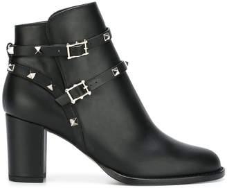 Valentino 'Rockstud Noir' ankle boots