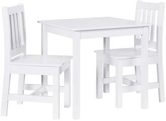 Linon Jaydn White Kid Table And Two Chairs