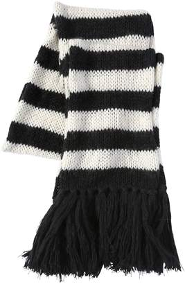 Saint Laurent Striped Wool & Mohair Blend Knit Scarf