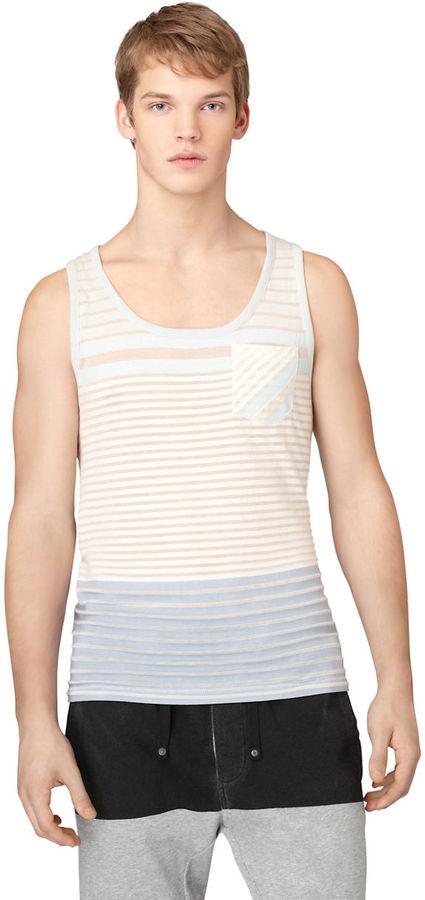 Calvin Klein Jeans Striped Contour Pocket Tank