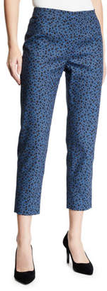 Piazza Sempione Audrey Floral Side-Zip Pants