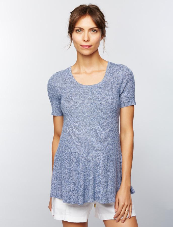 A Pea In The PodRib Knit Peplum Maternity Sweater