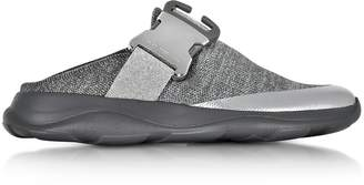 Christopher Kane Tonal Grey & Silver Fabric Slide Sneaker