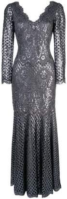 Tadashi Shoji sequin embroidered evening dress