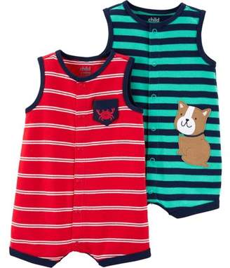 24621cba40 Carter's Child of Mine by Snap up romper, 2 pack (Baby Boys)