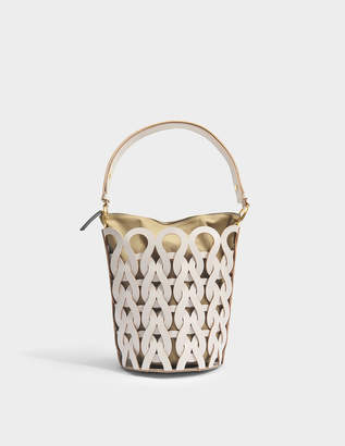 Marni Trico Bucket Bag in Glass Calfskin