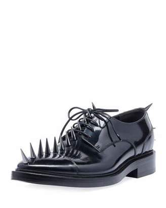 Balenciaga Men's Spiked Lace-Up Derby Shoes