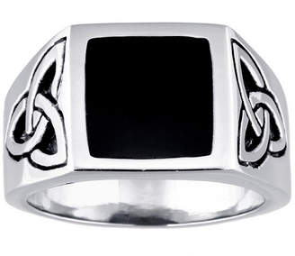 Celtic FINE JEWELRY Mens Stainless Steel Knot Ring with Resin