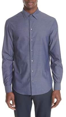 Emporio Armani Regular Fit Houndstooth Sport Shirt