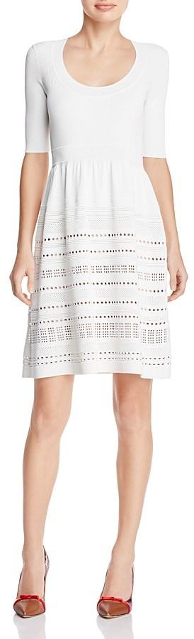 Paule KaPAULE KA Eyelet-Detail Knit Dress