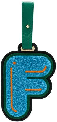 Chaos Letter F luggage tag