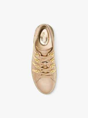 MICHAEL Michael Kors Chelsie Zipper-Trim Metallic Leather Sneaker