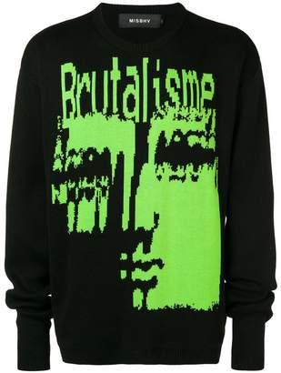 Misbhv Brutalisme print jumper