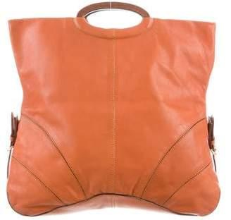 Sergio Rossi Leather Fold-Over Tote