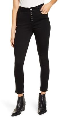 1822 Denim Fold Over Waist Ankle Skinny Jeans