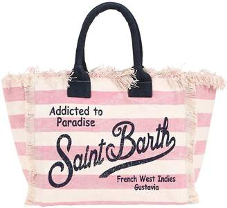 MC2 Saint Barth Large Logo Printed Canvas Tote Bag