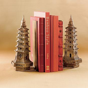 Iron Pagoda Bookends