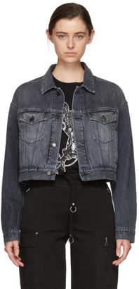 Marcelo Burlon County of Milan Black Denim Jacket