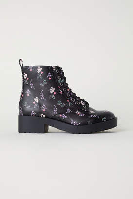 H&M Patterned Desert Boots - Black