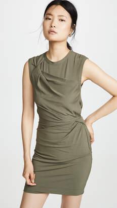 Alexander Wang Twisted Crepe Jersey Mini Dress