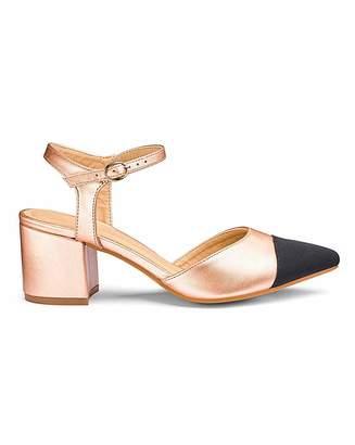 58b9787cf58 Jd Williams Block Heel Toe Cap Shoes E Fit